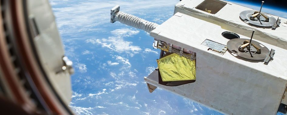 Photograph from the International Space Station showing the instrument installed on the Japanese Experiment Module- Exposed Facility, JEM, Image: NASA.